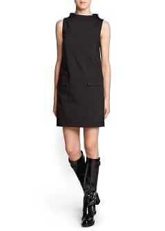 Funnel neck shift dress