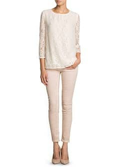 Loose-fit lace blouse