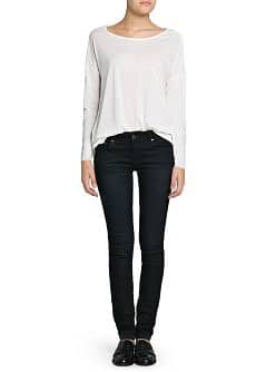 Slim-fit push-up dark jeans