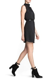 Pleated polka-dot dress