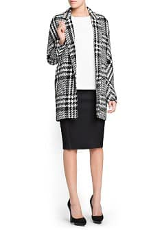 Neoprene-effect pencil skirt