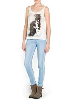 Jean super-slim Moto paillettes