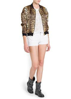 CHAQUETA BOMBER ESTAMPADO ANIMAL