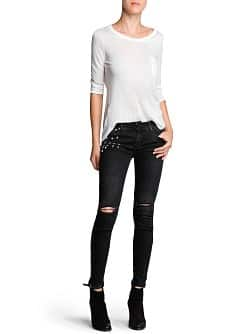 Super slim-fit studded Stone jeans