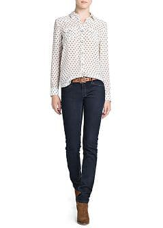 Slim-fit dark jeans