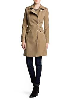 Military style long coat