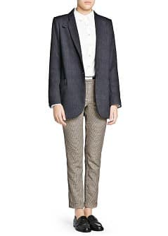 Elbow patch oversize blazer