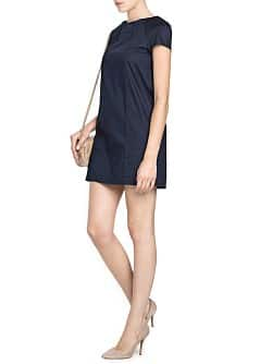 Straight-fit pintuck detail dress