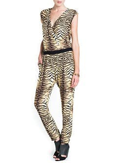 ANIMAL PRINT WRAPPED JUMPSUIT