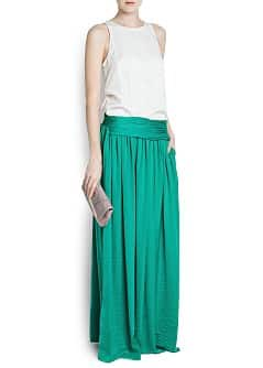 Sash long skirt