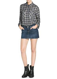 Dark wash denim miniskirt