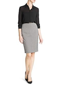 Houndstooth suit skirt