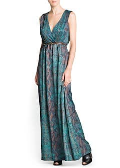 Snakeskin print long dress