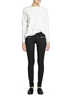Super slim-fit black Blanche jeans