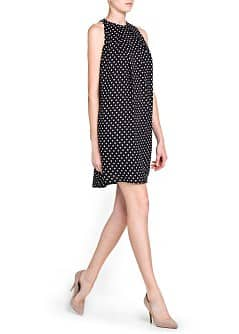 Flowing polka-dot dress