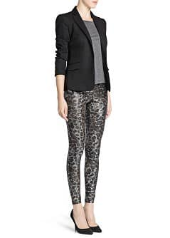 Leggings stampa animal metallizzata