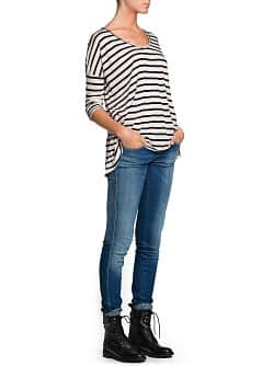 Striped modal-blend t-shirt