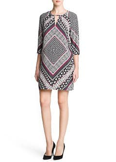 Scarf print flowy dress