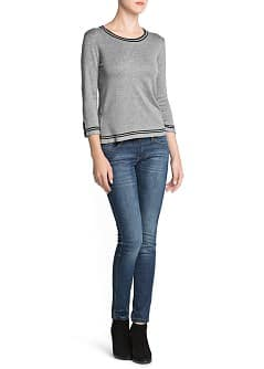 Contrast trim sweater