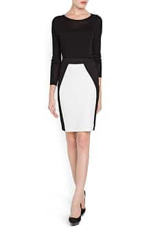 Bicolor pencil skirt