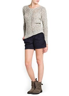 METALLIC DETAILS FLECKED SWEATER