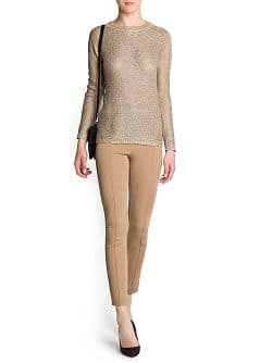 Sequined metallic sweater
