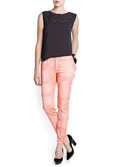 TIE-DYE SLIM-FIT TROUSERS