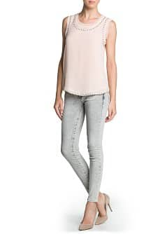 Super slim-fit light grey jeans