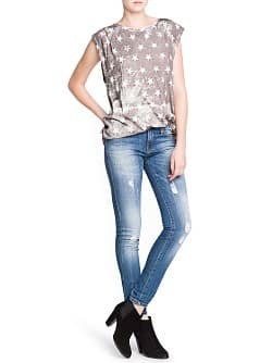 Star print loose-fit t-shirt