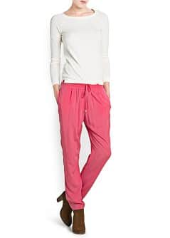 Drawstring flowing trousers