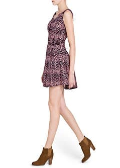 Bow printed dress