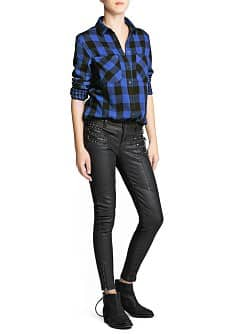 Super slim-fit coated Vivian jeans