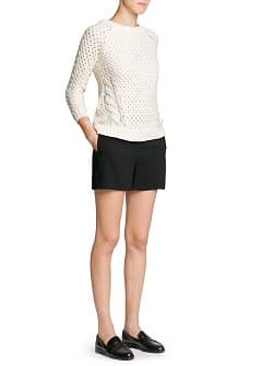 Interwoven wool-blend sweater