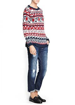 Fair isle alpaca wool-blend sweater