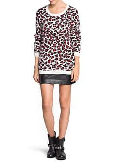 Leopard mohair wool-blend sweater