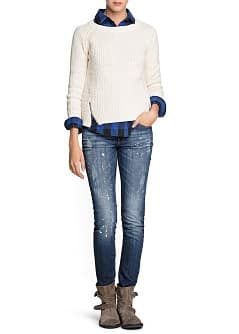 Zip wool cotton-blend sweater