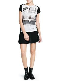 Chiffon panel 90's t-shirt