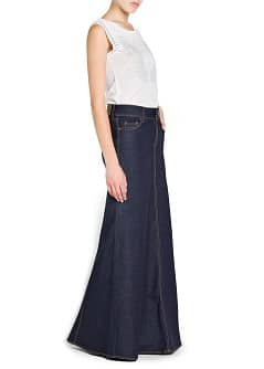 Dark denim long skirt