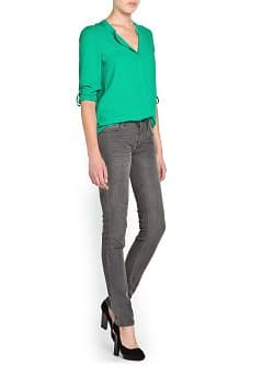 GRAUE SUPER-SLIM JEANS