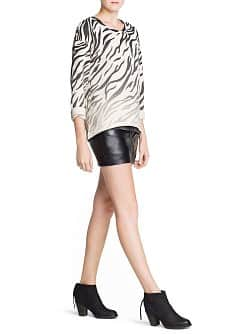 Zebra print cotton sweatshirt