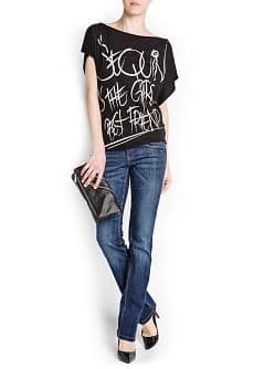 TYPOGRAPHIC PRINT COTTON T-SHIRT