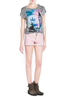 Cities printed t-shirt