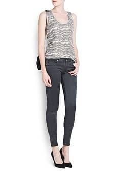 TEXTURED METALLIC TOP