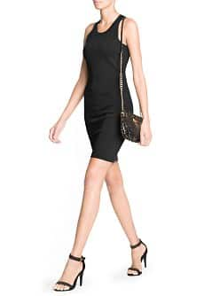 Cut-out detail bodycon dress