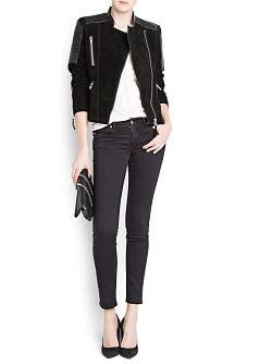 Super slim-fit black Elektra jeans