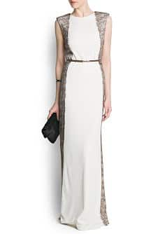 Panels lace gown