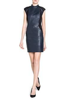 Combi leather dress