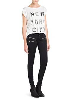 Zip super slim-fit black jeans