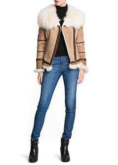 Suede shearling jacket