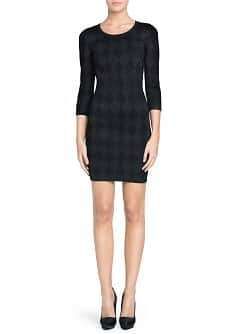 Rhombus knit dress